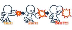 มีการโจมตี 2 ระดับคือ แบบเบาและหนัก การโจมตี เกมต่อสู้ GetAmped